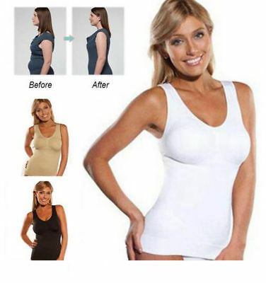 Women's Slimming Tank Top Tummy Control Seamless Cami Body Shaper Shapewear Vest
