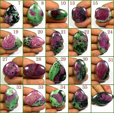 Natural Ruby Zoisite Cabochon A+++ Loose Gemstone Variation Free Shipping Rz-A