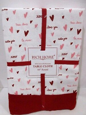 Valentine S Day Tablecloth Red Damask W Heart Scrolls 3 Sizes Upick