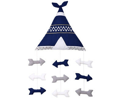 The Peanut Shell Arrows Ceiling Mobile - Navy