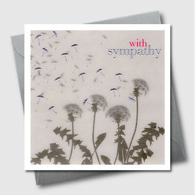 Greetings Cards - Dandelion - Luxury Embossed Sympathy Condolence Greeting Card