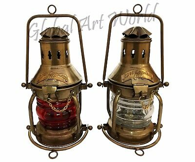 Antiquated Red & White Ship Lamp High Quality Boat's 1919 Rose London ML 043