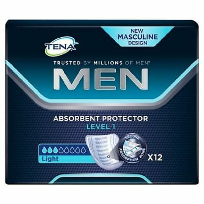 Tena Men Absorbent Protector Level 1 Light 12 Pads - 1 2 3 6 12 Cases