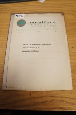 Montford Instruments MIN I-K CO2 Environmental Test Chamber Handbook  Loc: M-006