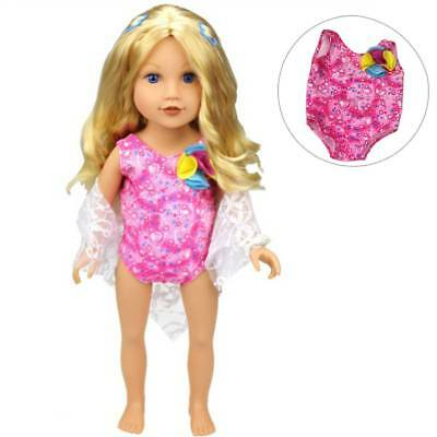 "Swimsuit + handkerchief for 18"" American Girl My Life Our Generation Dolls"