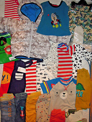 Boys Clothes 6-9 6-12 months BUILDA BUNDLE Tops Hoody Trousers Sleepsuits Vests
