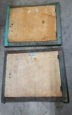 VINTAGE METAL LOCKER DOOR lot INDUSTRIAL SALVAGE steampunk