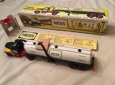 "1964 Hess ""B"" Mack Tanker Trailer 'The First Hess Toy Truck w/box, instr"