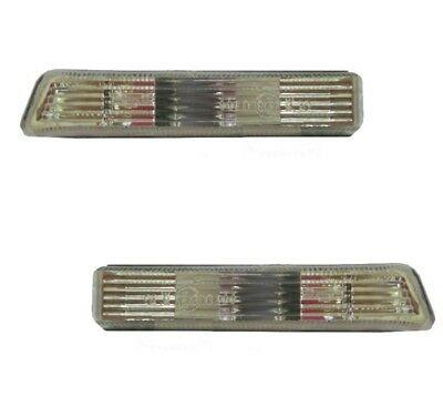 Pair Side Fender Lamp Light Signal Indicator Clear for BMW X5 E53 1999-2006