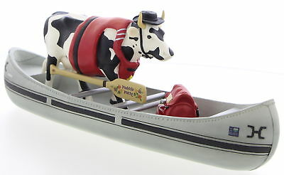 WESTLAND GIFTWARE Cow Parade #9138 Movin On Down The Mighty Mo Figurine