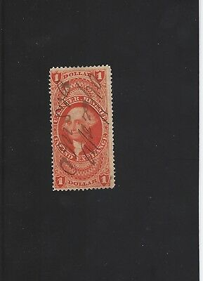 US R69c, $1 Inland Exchange with pre printing fold