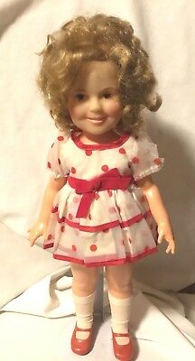 Vtg Ideal 1970's - Shirley Temple Doll - Red and White Polka Dot Dress 16""