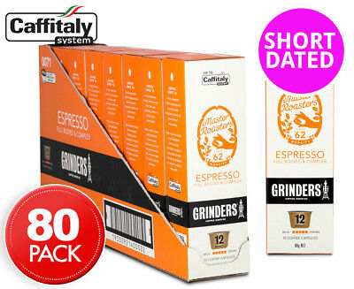 8 x Grinders Espresso Caffitaly Coffee Capsules 10pk