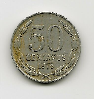 World Coins - Chile 50 Centavos 1975 Coin KM# 206