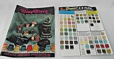 Duncan Ceramic Bisq Stain E Z Flow Color Chart Glazes Gloss Bisque Crackle Froth