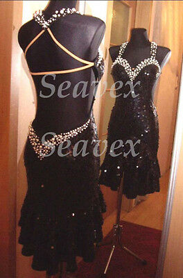 U4101 Formal ballroom women chacha Latin salsa samba dance dress Custom made