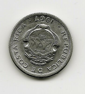 World Coins - Costa Rica 10 Centimos 1967 Coin KM# 185 ; Lot-C4