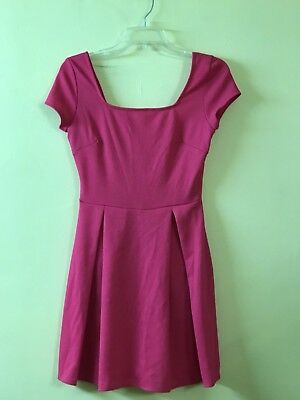 f7c6f1e258 Soprano Juniors Square Neckline Skater Dress Jacket D12778DW  Fuchsia   Small.