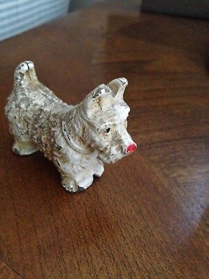 Small WESTIE FigureP ainted nose and face, VINTAGE, POSSIBLY ANTIQUE