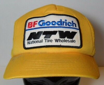 Vintage 1980s BF GOODRICH NTW National Tire Wholesale Michelin SNAPBACK Hat Cap