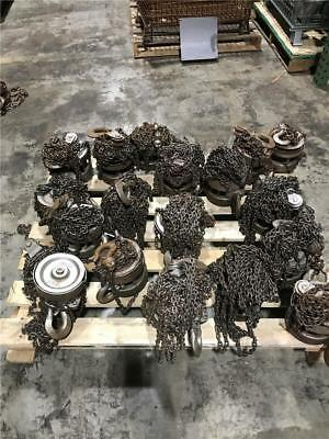 17Pc Lot Ph1 Eaton Yale 1 Ton & 1/2 Ton Chain Fall Hoist With Out Hand Chain