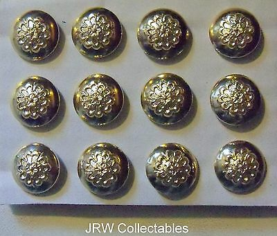 """12x British Army:""""QUEEN'S LANCASHIRE REGT CAP BUTTONS"""" (New - Sidecaps & Hats)"""