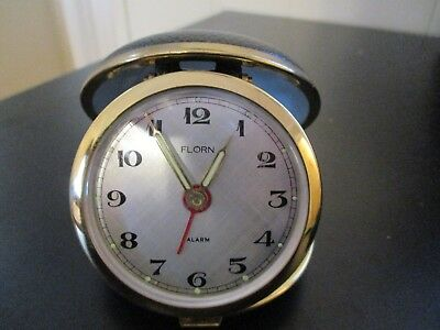 Vintage Florn Travel Alarm Clock      1K