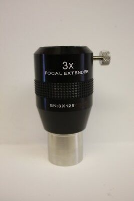 "Explore Scientific FE03-125 1.25"" 3x Focal Extender Telescope Barlow Lens"