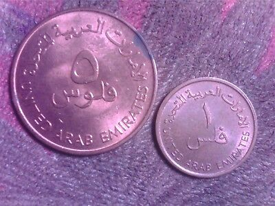 United    Arab  Emirates   1  Fil   1975  5 Fils    1973