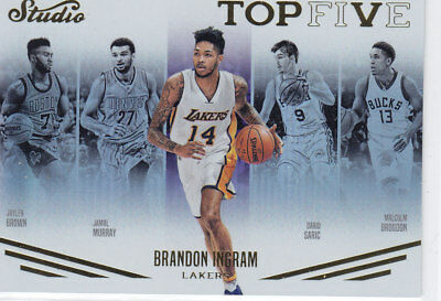 16/17 Panini STUDIO TOP FIVE RC #TOP3 BRANDON INGRAM Lakers Rookie 16BoxCASEHIT