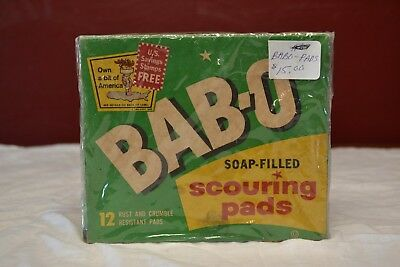 Vintage 1940's 1950's BAB-O Scouring Pads NOS Unopened