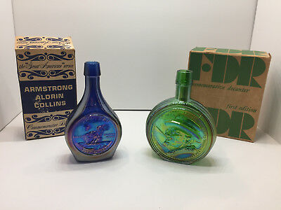 Armstrong, Aldrin, Collins & FDR Nuline Wheaton Village Decanter with Boxes