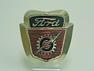 FORD Vintage Gear Lightning Logo Emblem Chrome Metal Fordomatic WALL Sign 712632