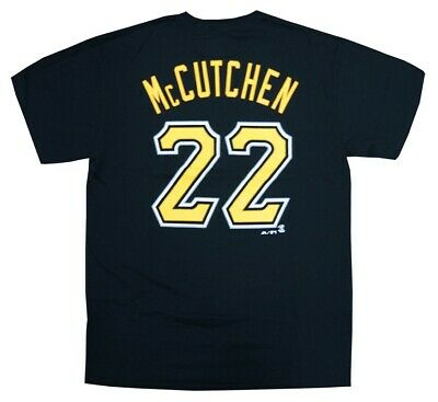 Andrew McCutchen Pittsburgh Pirates Majestic MLB Black Name & Number T-Shirt