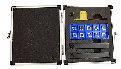 """Indexable Carbide Turning Tool Set With 1/2"""" Shank For Metal Lathes Ccgt Ccmt"""