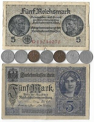 Rare Very Old Nazi Germany WWII WW2 German Coin Historical SS Collection War Lot