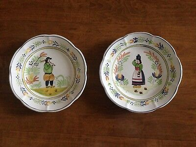 European Peasants - Hand Painted Dinner Plates, Made in Portugal
