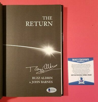 Buzz Aldrin Signed Hardcover Book The Return Authenticated With Beckett Bas Coa