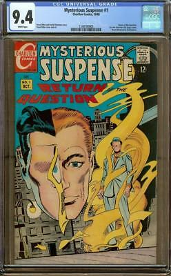 Mysterious Suspense #1 CGC 9.4 White Pages - 1st Solo Question - Steve Ditko
