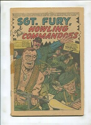 Sgt. Fury And His Howling Commando's #1 Coverless Key Issue Silver Age!