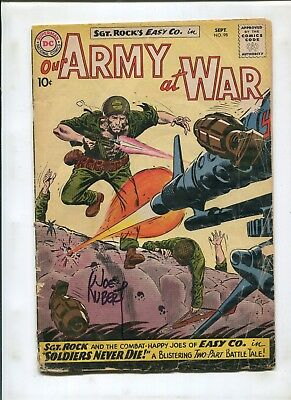 Our Army At War #98 (2.0) Signed By Joe Kubert!