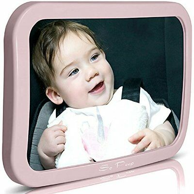 Baby Backseat Mirror for Car Pink | View Infant in Rear Facing Seat 100% Best