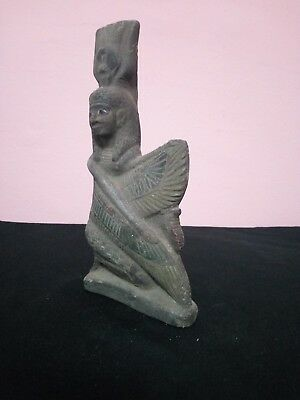 Ancient Egyptian Antique Statue of Isis 380–362 Bc