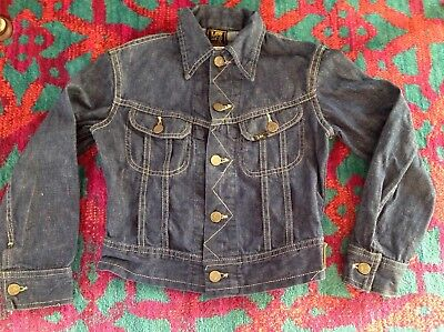 Vintage LEE Jeans Denim Jacket Union Made in the USA Sanforized youth kids boys