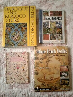 Ref Lot of Antique Textile Books - French Fabric Civil War Doll Project Emb Lace