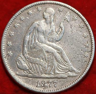 1877 Philadelphia Mint Silver Seated Liberty Half Dollar