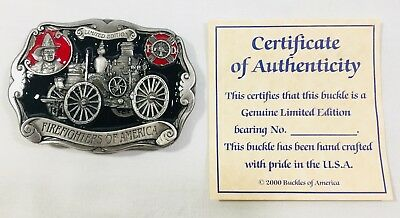Vintage Buckles of America Limited Edition Firefighters of America Belt Buckle