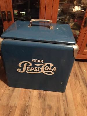Vintage Pepsi Cooler with Tray