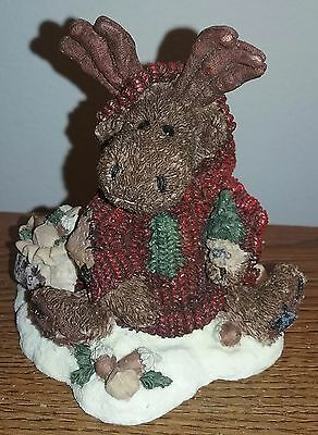 """Boyds Bears Bearstone Collection Manheim the """"Eco-Moose"""" Style #2243"""
