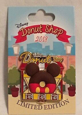 NEW! Disney Parks Pin of the Month 2018 Disney Donut Shop Mickey Mouse LE 3000